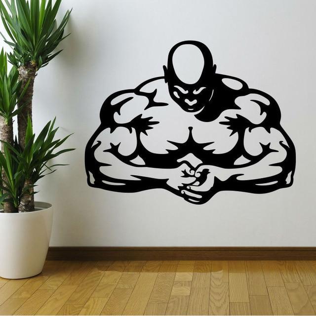 New cm muscle men stength gym fitness wall art