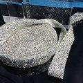 Бесплатная доставка, Кристалл серебро горный хрусталь обрезки, 1 ярд / много, Ширина 3 см, Платье невесты пояса горный хрусталь кромкооблицовочный, Свадьба декоративные кромкооблицовочный