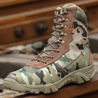 Men S Ankle Length Boots Black Camouflage Combat Chukkas Boots Men S Walking Hiking Trekking Shoes