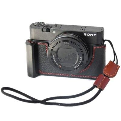 Poignée de caméra housse de couverture corium sac protecteur pochette base pour sony rx100 rx100ii rx100iii rx100iv rx100v rx100vi RX100m6 m5 m4 m3