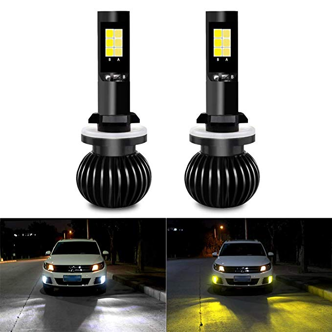 Automobiles & Motorcycles Hot Sale H27 881 880 12v 2pcs White Ice Blue Blue Ice Yellow Chip Dual Color Led Fog Driving Lamp Light Bulb Auto Running Headlamp Lamps Modern And Elegant In Fashion