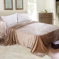 WLIARLEO Thicker Blanket Khaki Knitted Blankets Adult Throws For Sofa Super Soft Fleece Blanket Frazadas Polar