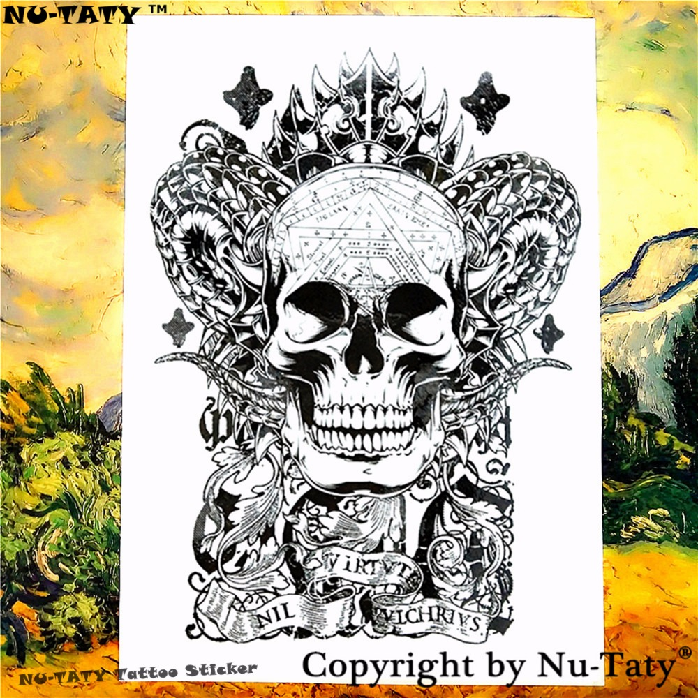 Nu-TATY Satanás El Demonio Tatuaje Temporal Body Art Tattoo Flash Stickers 21*15