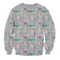 Synthesizer Crewneck Sweatshirt crazy 80s like wallpaper pattern stylish Jumper Sweats Women Men Tops Hoodies 3D Pull