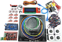 3D Printer Full Kit RAMPS 1 4 Mega 2560 MK3 Heatbed LCD2004 Stepper Motor MK8 Extruder