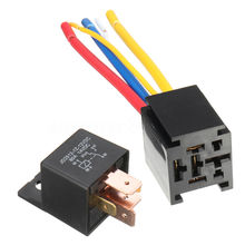 цена на Waterproof 12V 5Pin DC AMP SPDT Car Relay 80A Switching Capability with Socket Car Starter Automotive Relay Universal Mayitr