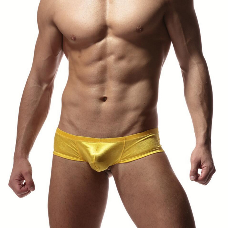 Sexy Gay Underwear Men Boxer Shorts Man Silk Soft U Convex -5269