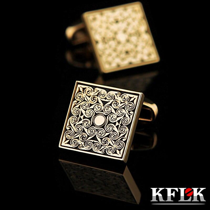 Купить мужские французские запонки kflk роскошные свадебные золотого