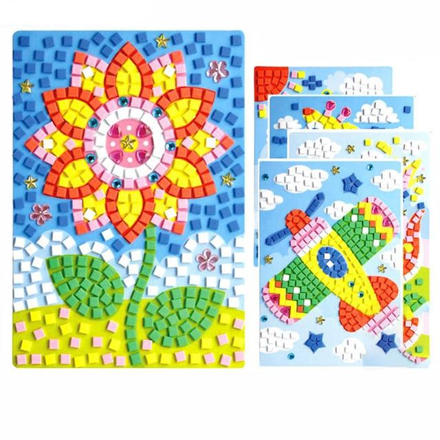 12 Colors 3D Children Puzzle DIY Foam Mosaic Stickers Art
