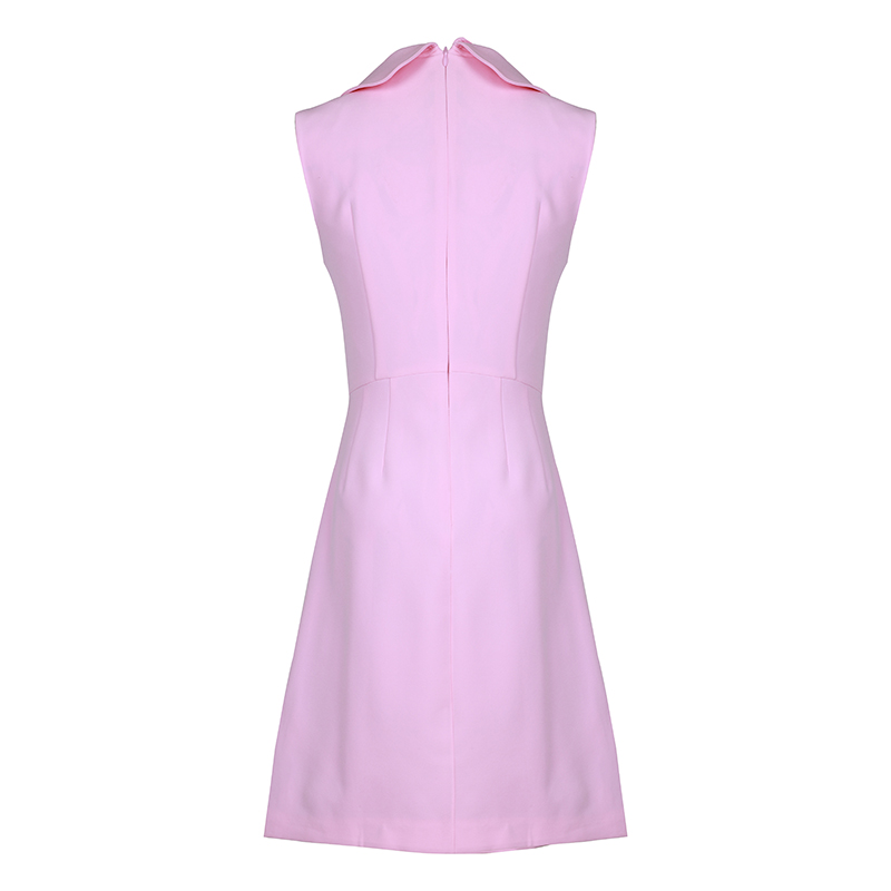 SEQINYY ชุด 2019 ฤดูร้อนใหม่แฟชั่นแขนกุด Lily ดอกไม้ปุ่ม Sweet Slim Mini ชุดผู้หญิง-ใน ชุดเดรส จาก เสื้อผ้าสตรี บน   2