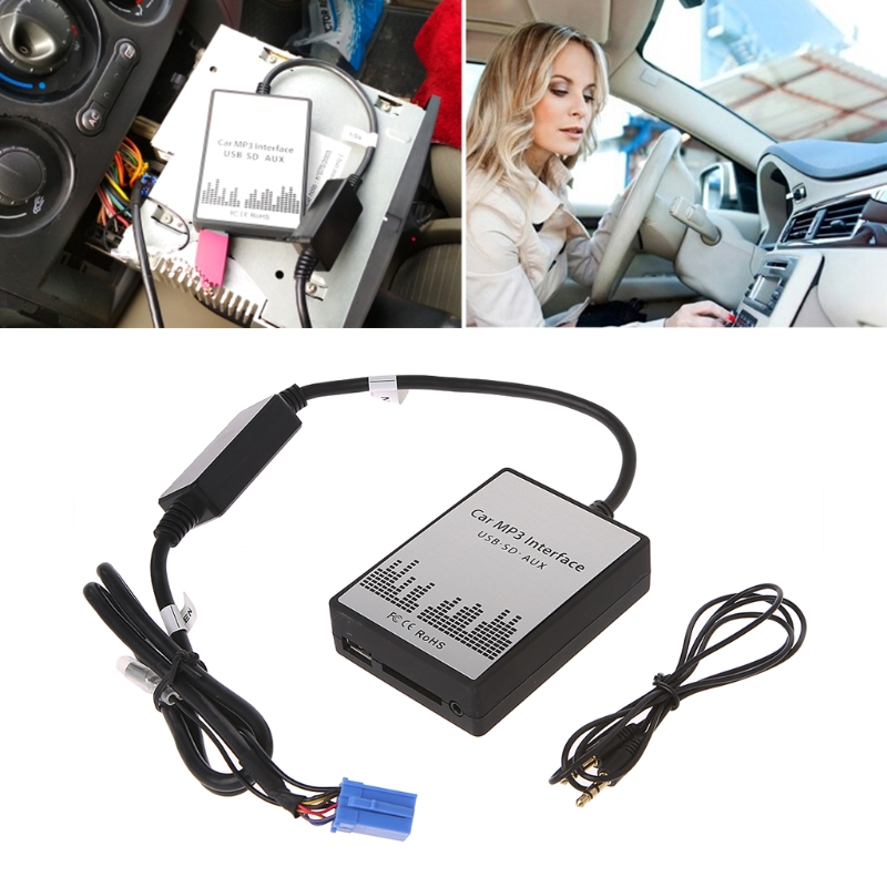 1 Set New USB SD AUX Car MP3 Music Radio Digital CD Changer Adapter For Renault 8pin Clio Avantime Master Modus Dayton Interface image