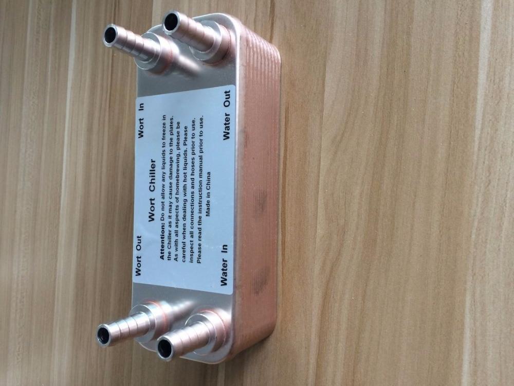 20 Plates Brewing Wort Chiller Plate Heat Exchanger