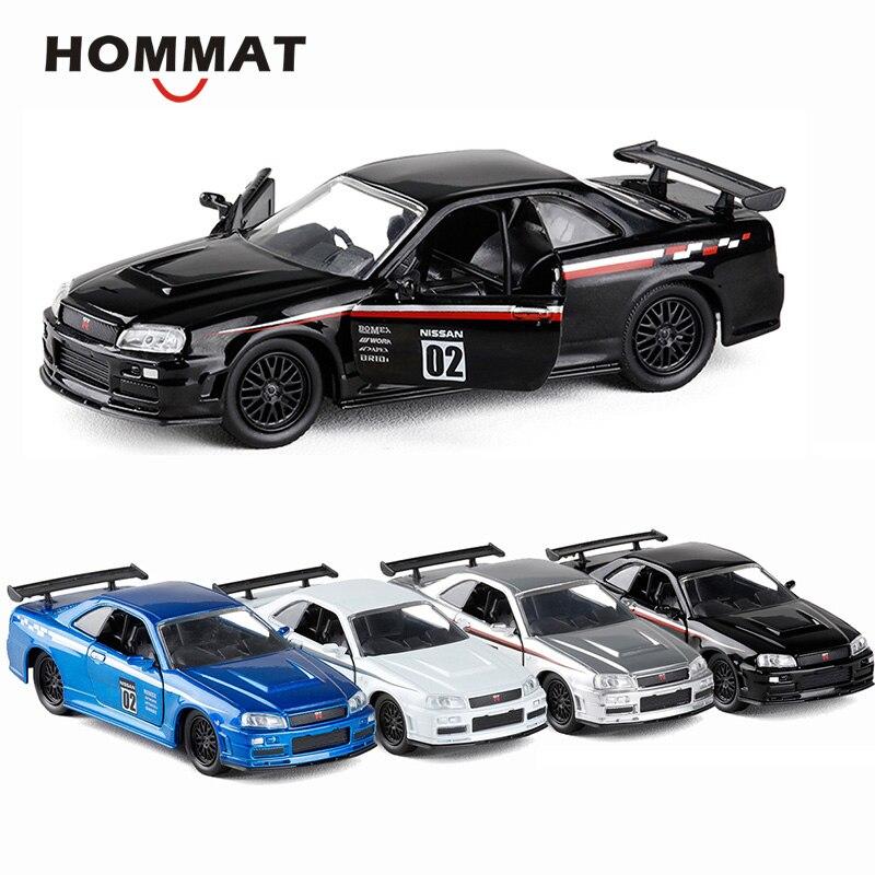 HOMMAT Simulation 1:36 Nissan GT R GTR R34 Sports Car