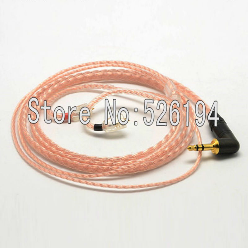 Free shipping 1.2 meter/pieces 5N OFC copper Cable For Ultimate Ears UE TF10 SF3 SF5 5EB 5pro TripleFi 15vm TF15 headphone cable
