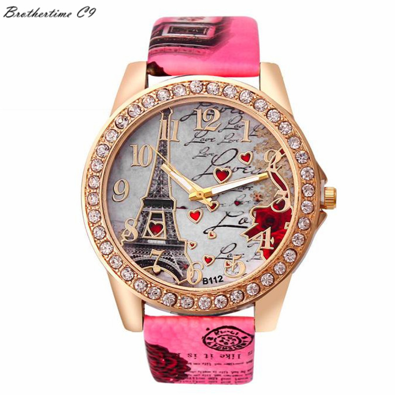 Best Deal Quartz Watch font b Women b font Fashion Tower Pattern Diamond Dial Watches Men