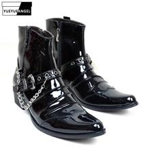 Großhandel mens black punk boots Gallery Billig kaufen