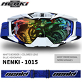 NENKI Blue Goggles Helmet Glasses Windproof Off Road Moto Cross Helmets Mask Goggles Professional Motorcycle Racing Glasses