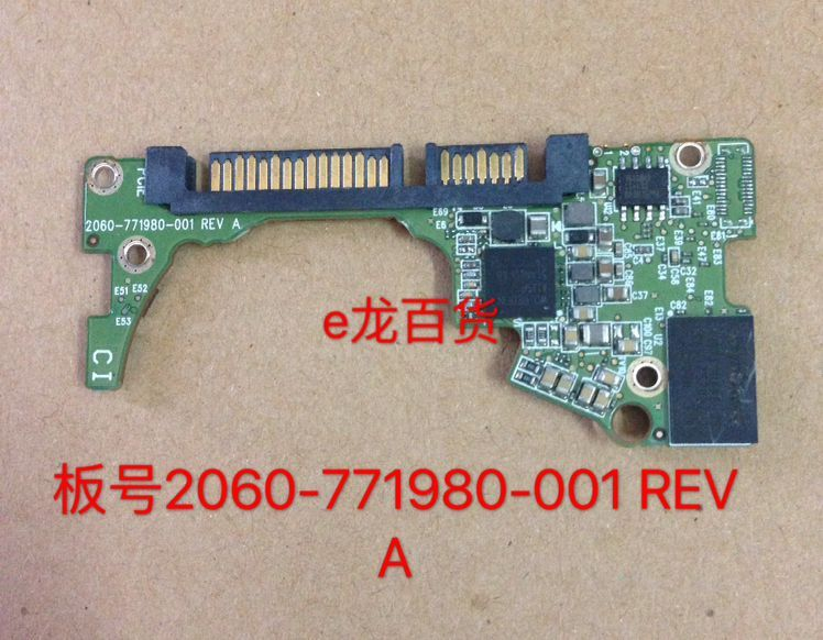 HDD PCB Logic Board Printed Circuit Board 2060-771980-001 REV A P1 P2 For WD 2.5 SATA Hard Drive Repair Data Recovery