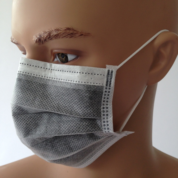 Surgical 4 20 Mouth Disposable Black Pcs Layers Face Masks Medical