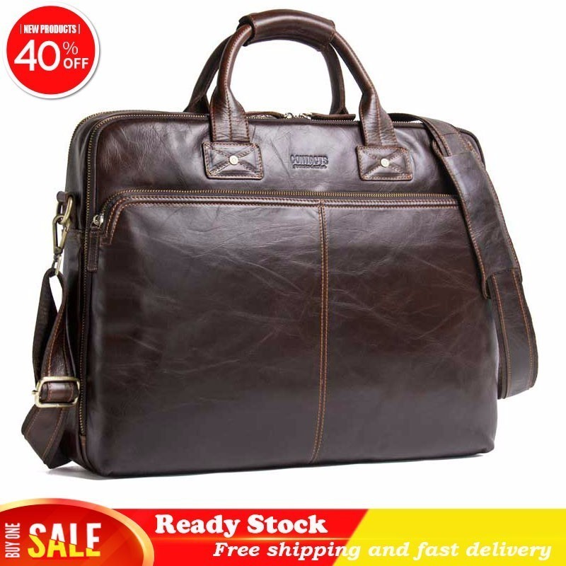 Luxury brand Genuine messenger bag men Leather Man Handbag 15.6 Inch Portable high quality Computer Business Affairs BriefcaseLuxury brand Genuine messenger bag men Leather Man Handbag 15.6 Inch Portable high quality Computer Business Affairs Briefcase