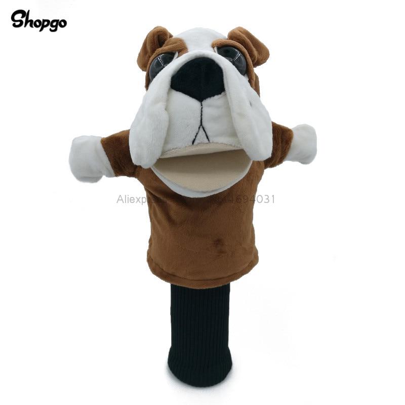 Bulldog Bull Dog Golf Head Cover Fairway Woods Headcover Animal Mascot Novelty Cute Gift Golf Accessories
