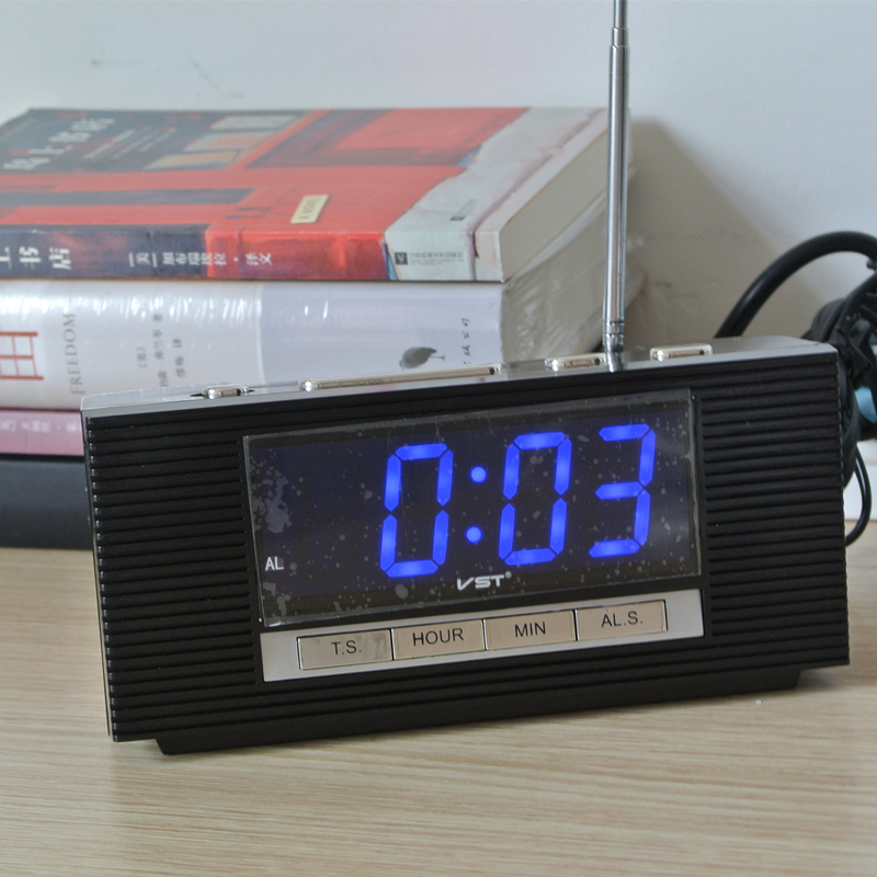 desktop clock picture more detailed picture about 2017 led alarm clock large display radio. Black Bedroom Furniture Sets. Home Design Ideas