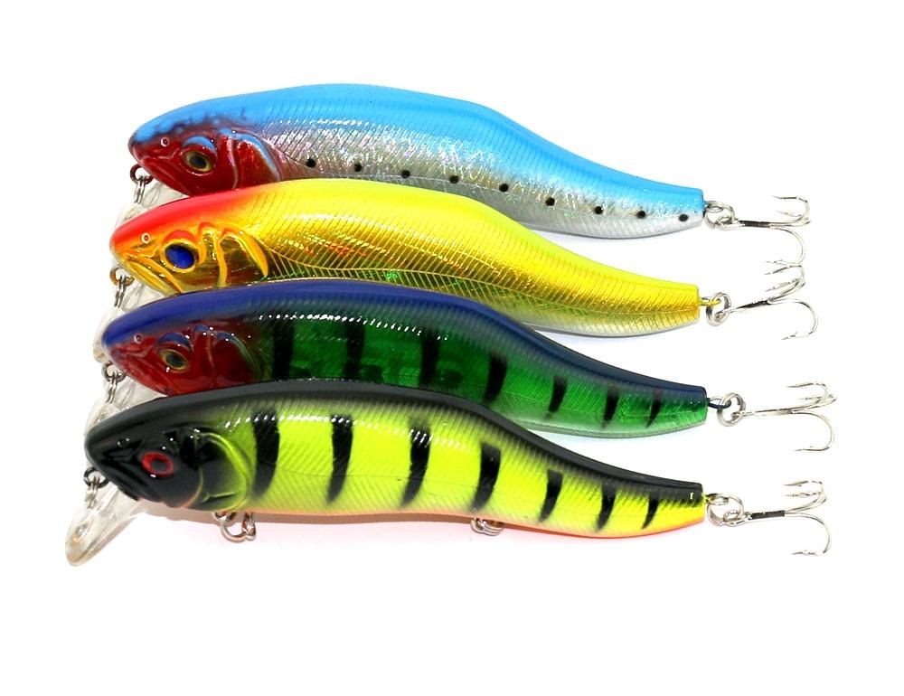 1pc Hot style 3 hooks Fishing lure 12cm 24.5g Popular Minnow hard plastic lures carp fishing bait pesca peche fishing tackle