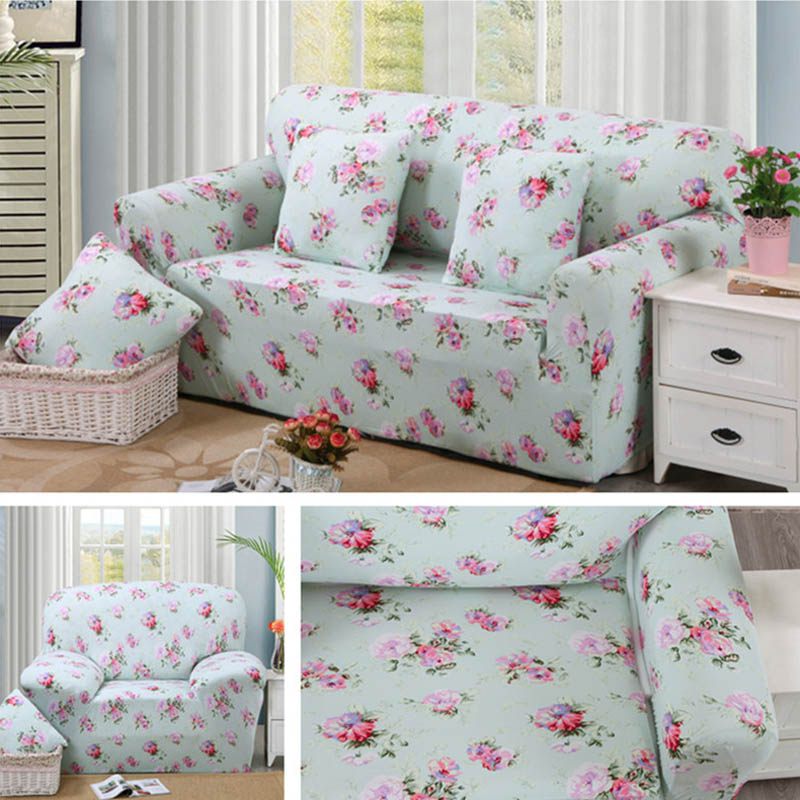 European Style Stretch Sectional Sofa Covers Soft Slipcovers Elastic Couch  Cover For Single Two Three Four