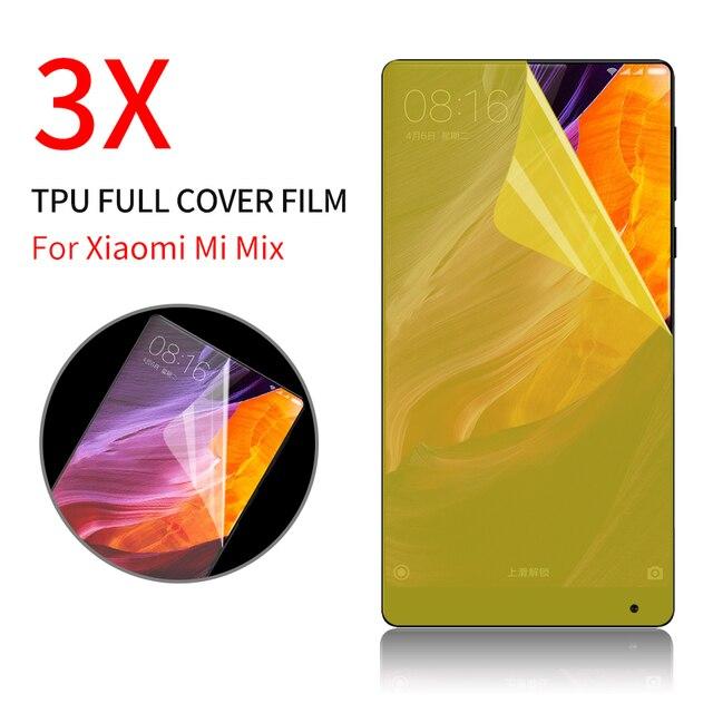 Полное покрытие Экран протектор для сяо Mi x 2 Max 2 полный охват протектор Ясно Применение Слои ТПУ экран Плёнки не закаленное Стекло