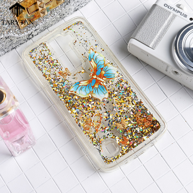 ∞Tarytan Liquid Glitter Soft Fundas para móviles para LG K8 LG ...