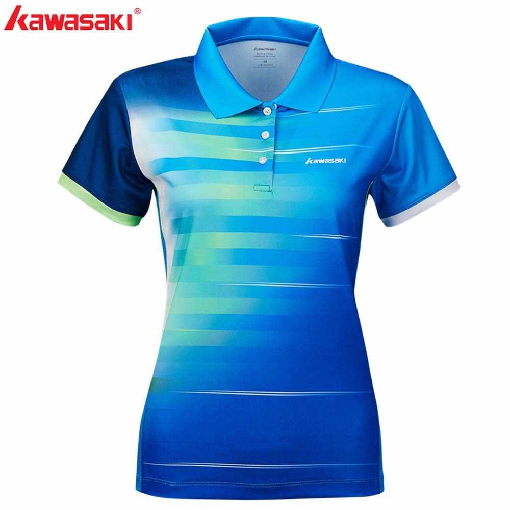 2019 Kawasaki летние спортивные рубашки Теннисный Бадминтон футболка дышащая футболка с короткими рукавами для женщин ST-S2102