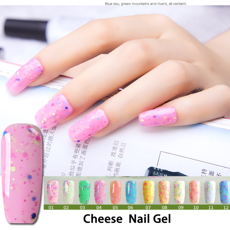 New 24 color Cheese Ice Cream Gel Nail Polish Manicure removable ...