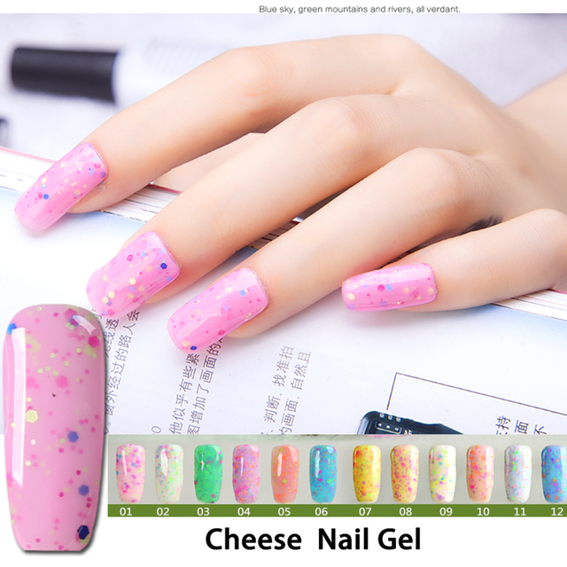 New 24 Color Cheese Ice Cream Gel Nail Polish Manicure Removable Phototherapy Glue Oil