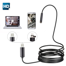 Cámara endoscopio USB 5,5mm lente 2m 5m 10m tubo semirrígido endoscopio boroscopio inspección de Video IP67 impermeable para Android PC
