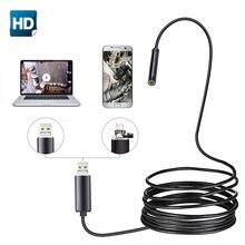 USB endoskop Kamera 5.5mm Lens 2 m 5 m 10 m Yarı Sert Tüp Endoskop Borescope Video Denetimi IP67 Su Geçirmez android PC için