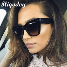 Higodoy Retro Square Oversized Sunglasses Men Goggle Vintage Classic Trend Ladies Outdoor Personality Women UV400