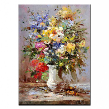 NEW 100% hand-painted oil painting high quality wall flower  pictures for living room DM-15101609