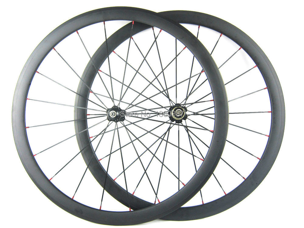 Road carbon wheels 38mm 700c rim carbon bike wheelset clincher white red decal matte or glossy finish 18/21 or 20/24 spoke 700c bike 12k carbon wheels glossy matte finish cross bike close wheelset tt 700c wheels tublar clincher fixed gear wheels