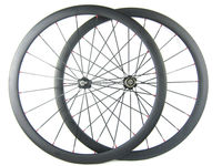 Road Carbon Wheels 38mm 700c Rim Carbon Bike Wheelset Clincher White Red Decal Matte Or Glossy