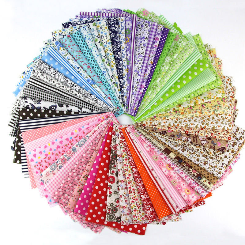 <font><b>50</b></font> Pcs/lot 10*10cm Cotton Fabric Quilting Sewing Material DIY Patchwork Handmade Charm Pack Patchwork Bundle Textile Fabrics image