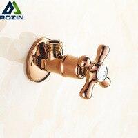 Free Shipping G1 2 Male Thread Bath Shower Angle Stop Valve Bathroom Rose Golden Kitchen Hot