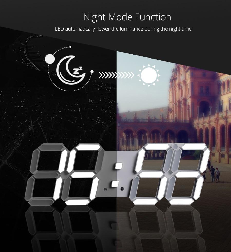 3D LED Wall Clock Modern Design Digital Table Clock