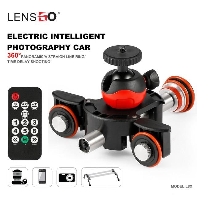 LENSGO Kamera Video Track dolly Motorisierte Elektrische Slider Motor Dolly Lkw für Nikon Canon DSLR kamera DV Film Vlogging Getriebe