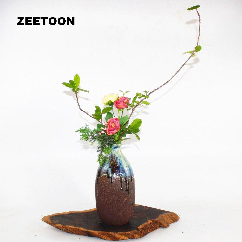 5119 37 De Réductionzen Japonais Ikea Bana Poterie Grossière Vase Pot De Fleurs En Céramique Récipient Hydroponique Plante Kenzan Fleur Organiser