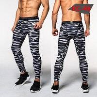 Men S Sport Running Pants Camo Print Slim Compression Leggings Base Layer Long Trousers