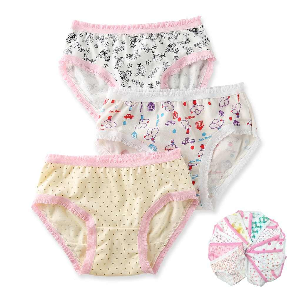 701141092a64 6Pcs/Lot 2-8y 100% Organic Cotton Baby Kids Girls Briefs Girl Underwear