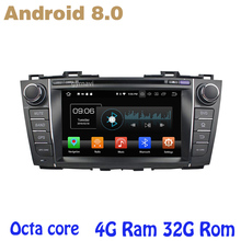 Android 8.0 Octa core PX5 car dvd gps for mazda 5 with canbus 4G RAM 32G ROM wifi 4g usb auto Multimedia