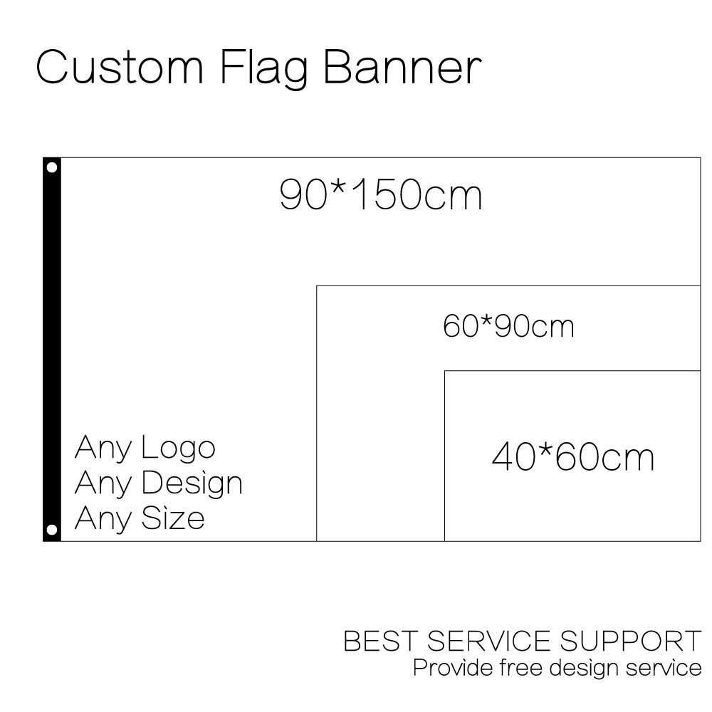 10pieces 90 150cm bulk order link for custom flag