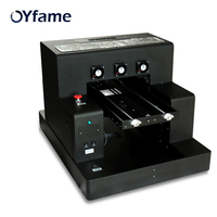 OYfame Automatic A3 UV Printer Phone Case Cylinder Bottle Glass R2000 UV Printer 8 Color With DX5 Printer Head For Leather Metal