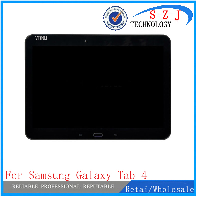 VBNM 10.1 inch For Samsung Galaxy Tab 4 T530 T531 T535 LCD Display + Touch Panel Screen Glass Digitizer Assembly + Frame 10 1 white for samsung galaxy tab 4 10 1 t530 t531 t535 tablet lcd display touch screen digitizer full assembly with frame